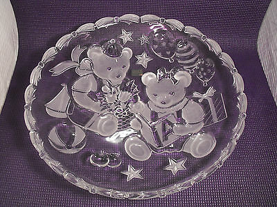 Mikasa  Round Party Bears Hostess Serving  Platter 15 inches Made in Germany