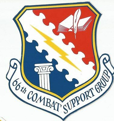 Air force 66th combat support group sticker outside application