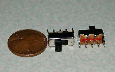 2pcs SS12F44 3 Pin 2 Position SPDT Micro Slide Switch
