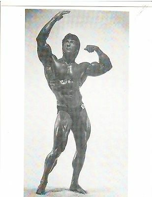 FRANK ZANE Mr America Muscle Bodybuilding Photo B+W #A3