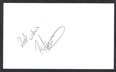 A 13cm x 7.5cm Plain White Card Signed by Rob Newman of Norwich City
