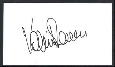 A 13cm x 7.5cm Plain White Card Signed by Kevin Reeves of Norwich City