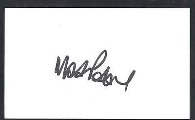 A 13cm x 7.5cm Plain White Card Signed by Mark Robins of Norwich City