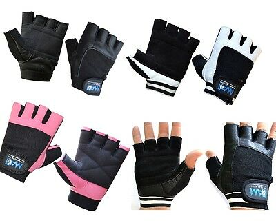 DAM Weight Lifting Leather Gym Gloves Fitness Training Body Building Cross Fit