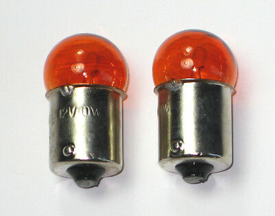 (2) 12V 10W Chinese Moped & Scooter Turn Signal Light Bulb - Orange. Usa!!