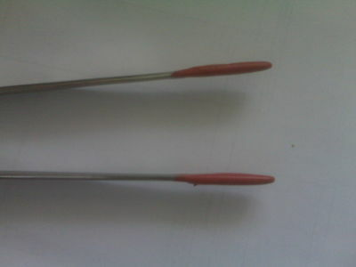 """18"""" Straight Tweezers & Rubber Coated Tips for Aquariums or Reptiles!! Brand New"""