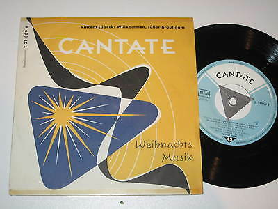 "7""/weihnachts Musik/cantate/lübeck/helmut Barbe/71889"