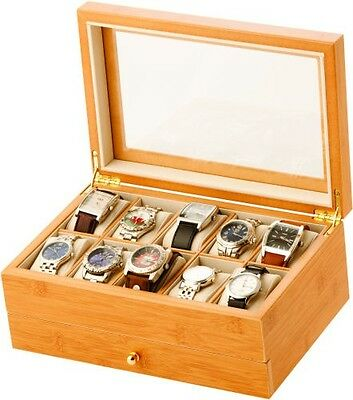 Large Wooden Watch Valet Box - Choice of finish