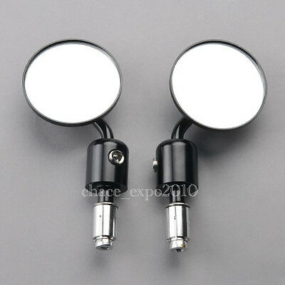 Motorcycle Cnc Aluminum Rearview 3 Handle Bar End 7 8 Side Mirrors Round