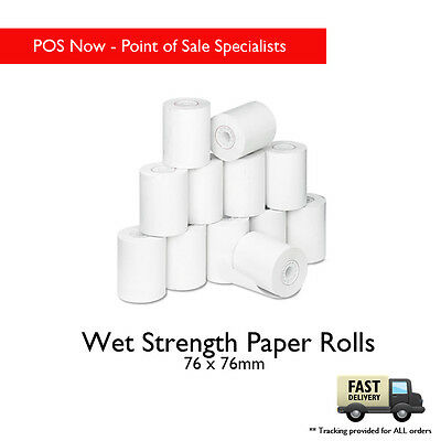 76x76 Wet Strength Paper Roll 25 Pack (White)