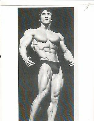 FRANK ZANE  Mr America Muscle Bodybuilding Photo B+W