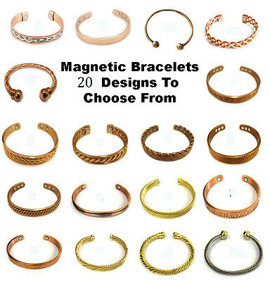 Mens & Womens Copper Magnetic Health Bracelet.Pain Arthritis Relief & Well Being