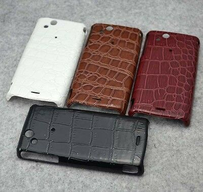 New Alligator leather hard case cover for Sony LT15i LT18i Xperia Arc S