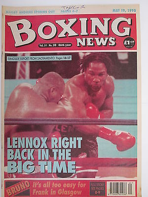 Boxing News 19 May 1995 Lewis Butler Collins Schwer Dunne McCracken Andries