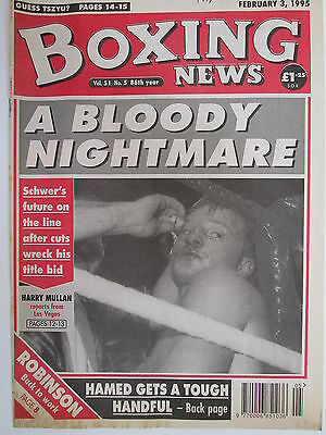 Boxing News 3 Feb 1995 Hamed Schwer Ruelas Shea Neary Michael Smyth Oyebola