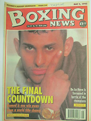Boxing News 5 May 1995 Hamed Angeles De LaHoya Ruelas Lueshing Harvard Armstrong
