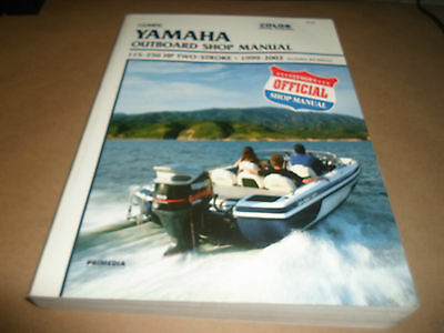 1999-2002 Clymer Yamaha Outboard Shop Manual 115-250 HP 2 Stroke JET Drive x