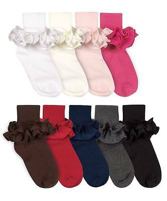 Jefferies Misty Ruffle Socks  Newborn Infant Toddler XS Sizes
