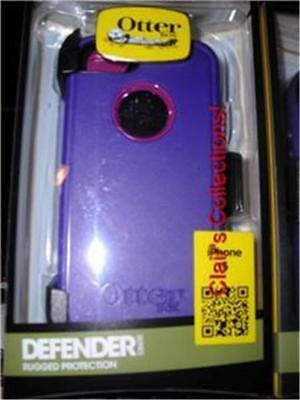 ***Genuine Otterbox Defender Purple Pink or Blue for iPhone 5 NIBw/ Holster***