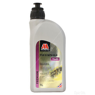 Millers Oils TRX 75w-80 GL5 Fully Synthetic Transmission Oil - 1 Litre
