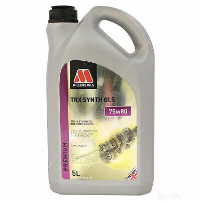 Millers Oils TRX 75w-80 GL5 Fully Synthetic Transmission Oil - 5 Litres