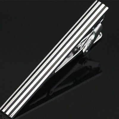 Mens Boys Silver Chrome Stainless Steel Skinny & Standard Tie Clip Clasp Bar Pin