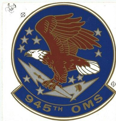 """Air Force - 945th OMS Sticker - 5"""""""