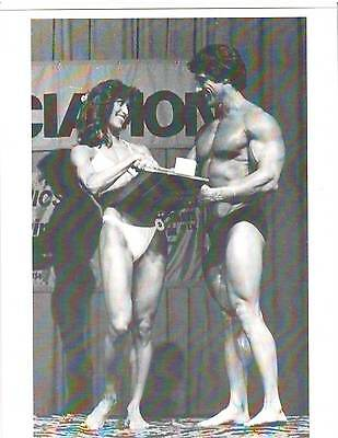 Ms Olympia Rachel McLish  /Mr Olympia Frank Zane Bodybuilding Contest Photo B+W