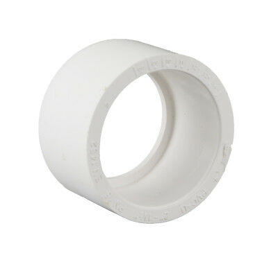Swimming Pool Pipe Fitting 2'' to 1.5'' Reducer White ABS