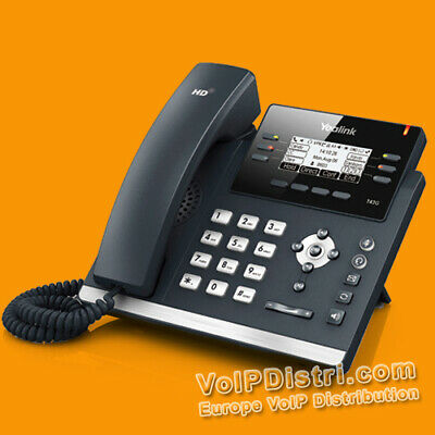 Yealink VoIP T42G Ultra-elegant IP Phone, HD Voice & PoE (SIP-T42G) for Asterisk