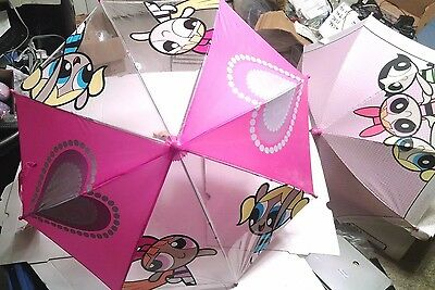 Rare Vintage Powerpuff Girls Umbrella Collection - 2 Items - Never Used - W/Tags