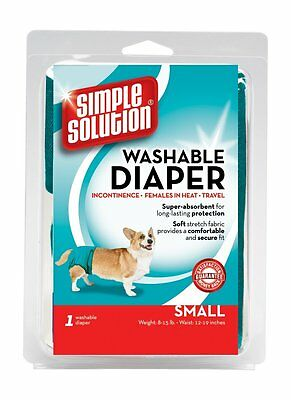 Simple Solution Dog Diaper Dog Nappy Washable Dog Pants Small