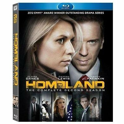 Homeland: The Complete Second Season (Blu-ray Disc, 2013, 3-Disc Set) - NEW!!!