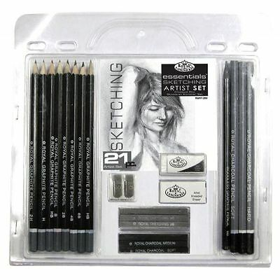 21 Piece Sketch Drawing Pencil Set Sketching Art Royal Langnickel Art Supplies