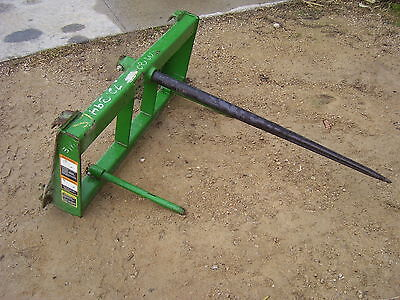 round bale spear for John Deere 500 series loader tractor