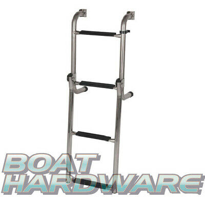 Foldable 4 Step Boarding 895mm Ladder 316 Marine SS Stainless Steel Boat Yacht