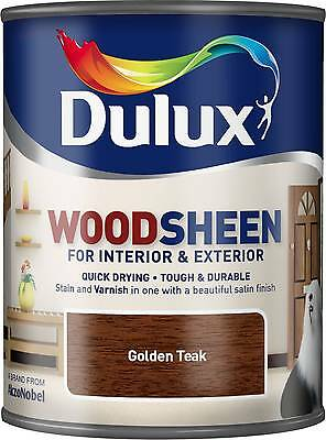 Dulux Woodsheen - Golden Teak - 750ml - Interior & Exterior - Woodstain