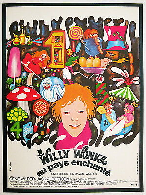 WILLY WONKA & THE CHOCOLATE FACTORY '71 Best poster linen-backed ready to frame!