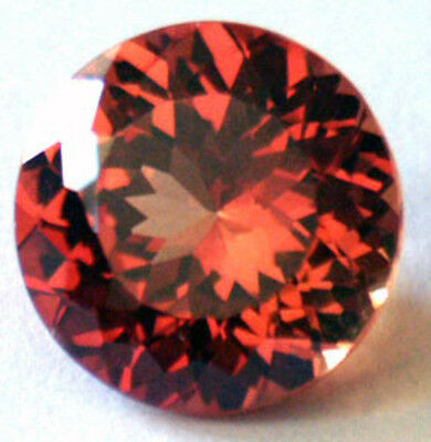 1.6 ctw 7 mm double Round Brillant Cut  Created Padparacha