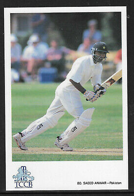 Saeed Anwar (Pakistan) Official Tccb Cricket Postcard