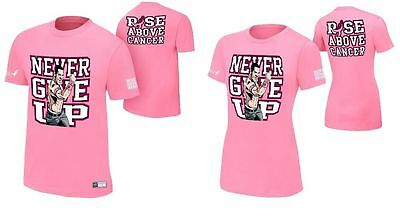 e510284c28e WWE Authentic John Cena Rise Above Cancer T-Shirt - Mens or Womens - BRAND