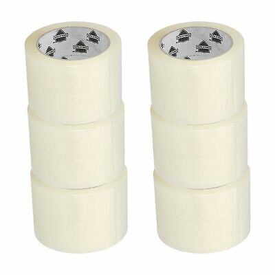 ( 6 ) Rolls 3 Inch x 110 Yards Clear Carton Sealing Packing Box Shipping Tape