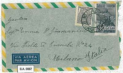 ROTARY - POSTAL HISTORY : BRAZIL - AIRMAIL COVER to ITALY 1948