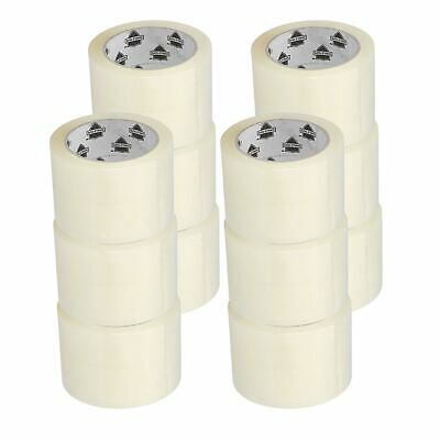 "12 Rolls 1.9 Mil Clear Packaging Moving Box Carton Sealing Tapes 3"" x 110 Yards"