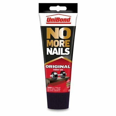 Unibond No More Nails Original Interior 200ml Tube - Instant Grab Hold Adhesive