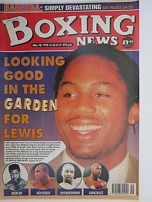 """Boxing News 10 May 1996 Lewis Dodson Calzaghe Colin Innes-""""Chips"""" O'Neill,"""
