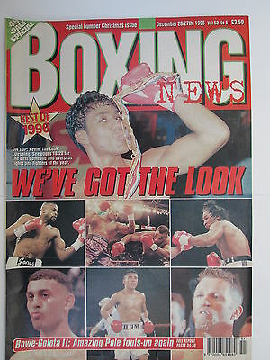 Boxing News 20 / 27 Dec 1996 Bowe Golota Hamed Johnson Kelton McKenzie