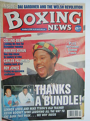 Boxing News 4 Oct 1996 Lewis McCall Tyson Hamed Benn Collins Kevin Rooney