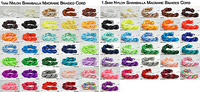 1mm 1.5mm Chinese Knot Nylon Shamballa Macrame Cord Beading String - Pick Color