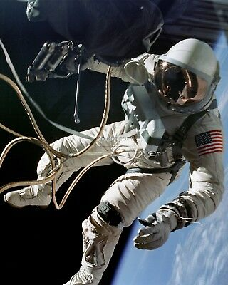 Ed White - First American Astronaut To Walk In Space - 8X10 Nasa Photo (Aa-390)